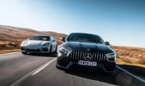 """Bực mình vì mất danh """"vua"""", Mercedes-AMG GT 63S+ đòi đua lại với Porsche Panamera."""