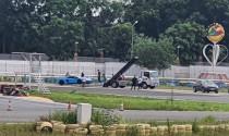 Đua cùng Honda CBR1000RR-R, Lamborghini Aventador SV gặp sự cố ở đường đua Đại Nam