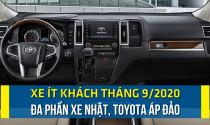 Xe ít khách tháng 9/2020: Đa phần xe Nhật,Toyota áp đảo