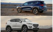 So sánh Hyundai Santa Fe và Hyundai Tucson 2020: Chênh lệch 200 triệu liệu có đáng nâng cấp?