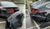 Tesla Model 3 gặp lỗi rơi cản sau khi đang chạy