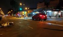 TP.HCM: Tai nạn xe máy trong cơn mưa lớn, 2 người nhập viện
