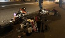 Ô tô tông 10 xe máy, khiến 5 người bị thương