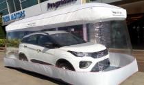 Phòng dịch Covid-19, ô tô giao khách được đặt trong túi nilon