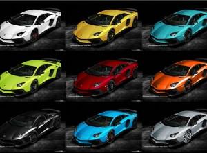 Bộ sưu tập 34 màu của Lamborghini Aventador SV