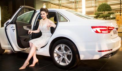 Á hậu Dương Tú Anh khoe dáng bên Audi A4 2016