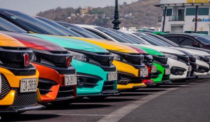 Ngắm dàn Honda Civic đa sắc màu tụ họp ven biển Vũng Tàu
