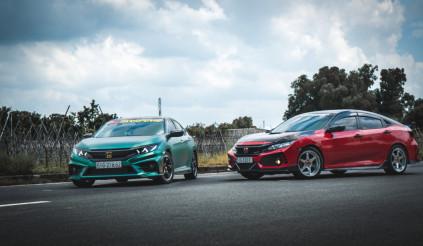 Ngắm nhìn bộ đôi Honda Civic Turbo độ trăm triệu