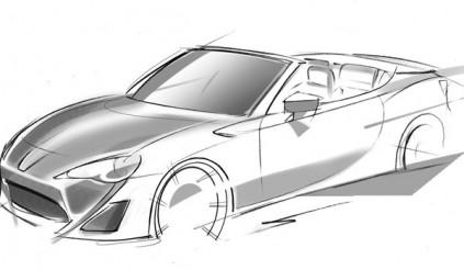 Toyota tung hình phác thảo GT 86 mui trần