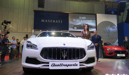 Cận cảnh Maserati Quattroporte GTS tại triển lãm VMS 2018