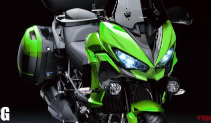 Hé lộ Kawasaki Versys 1000 2019 trước thềm Triển lãm EICMA 2018