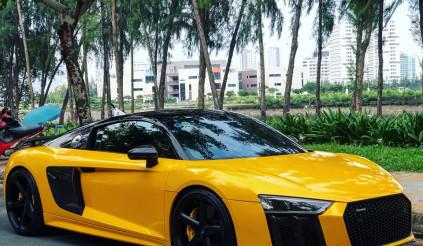 """""""Tình cũ"""" Audi R8 V10 Plus của Cường Đô la diện """"áo"""" mới"""