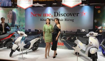 Chi Pu và Ninh Dương Lan Ngọc đại diện cho hai mẫu xe ga Yamaha
