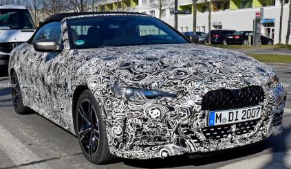 """BMW 4 Series Convertible mới lộ diện với """"mũi quả thận"""""""