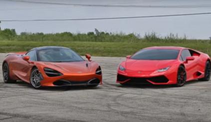 Lamborghini Huracan so tài với McLaren 720S
