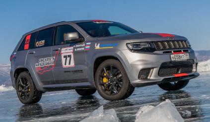 SUV Mỹ Grand Cherokee Trackhawk đạt kỷ lục tốc độ chạy trên băng