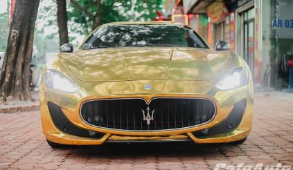 """Maserati GranTurismo """"mạ vàng"""" phong cách Dubai: odo 1.200km, rẻ hơn 2.5 tỷ so với xe mới"""