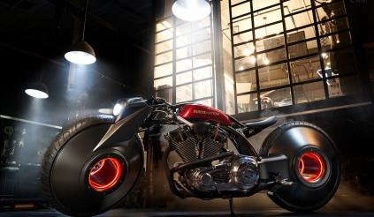 Harley-Davidson Softail độ theo phong cách viễn tưởng