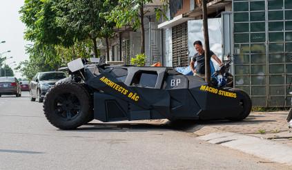 Mê Người Dơi, sinh viên 22 tuổi tự chế Batmobile hơn nửa tỷ đồng