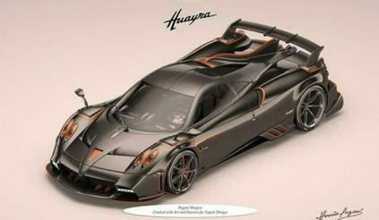 Chiêm ngưỡng tuyệt phẩm Pagani Huayra phiên bản rồng