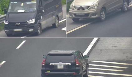 Truy tìm 3 xe ô tô liều mạng lùi xe trên cao tốc ngày 23/6