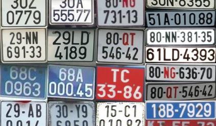 Tư vấn về ý nghĩa của những dòng chữ trên biển số?
