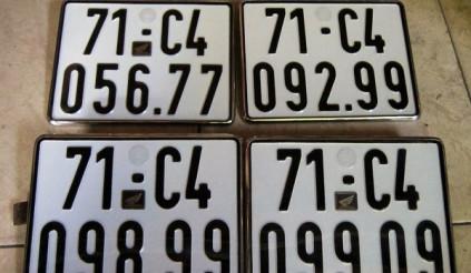 Xử phạt ra sao đối với hành vi sản xuất biển số xe giả?