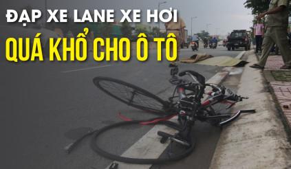 Từng đoàn xe đạp lao vun vút trên đường theo đội hình rất đẹp,  quá khổ cho ô tô